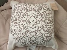 NEW   Stone Cottage Embroidered Medallion Throw Pillow