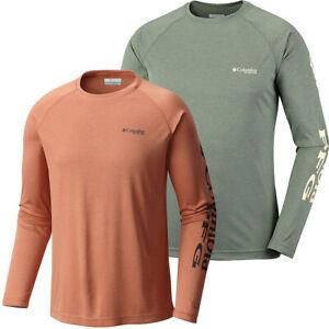 "New Mens Columbia PFG ""Terminal Tackle Heather"" Omni-Shade T-Shirt Top Tee Polo"