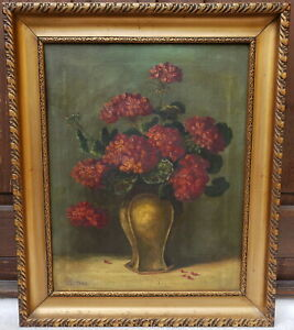 THEODORE CLEMENT STEELE oil painting flowers Indiana impressionist American TC