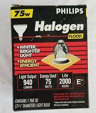 Philips Halogen 75w Flood Light Bulb New in Box