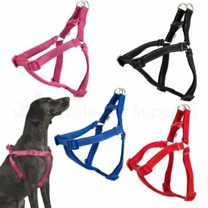 Ancol Padded Strap Dog Harness Nylon Reflective Stitching - 5 Sizes