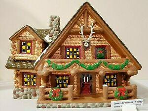 Department 56 Snow Village- Hunting Lodge #5445-3 with Antlers Retired💖