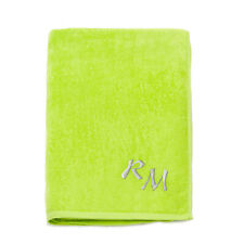 LARGE 100% COTTON EMBROIDERED MONOGRAM BEACH TOWEL BATH SHEET HOLIDAY TOWELS