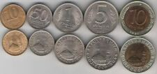 RUSSIA COMPLETE COIN SET 10+50 Kopeek +1+5+10 Rubles Roubles 1991 UNC LOT of 5