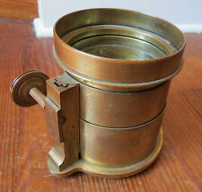 ANTIQUE BAUSCH & LOMB BRASS TRIPLET PETZVAL CAMERA LENS - 18 in E.F.