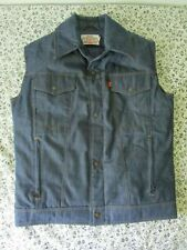 Vintage Levis Orange Tab Jean Ski Vest Goose Down Coat Men's Size XL