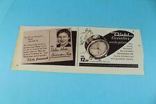 Reklame - Original 1953 - Diehl Cavalier Wecker + Braun Rasierer + Valan  /S83