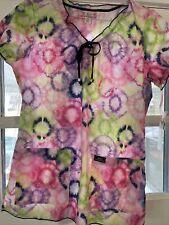 Koi Limited addition scrub top women's small pattern fireworks tie-dye Delaney
