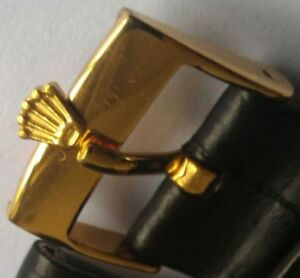 GENUINE OEM ROLEX GOLD PLATED BUCKLE TANG, 16mm  (Buckle only, no strap)