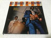 LP Ray Charles at Newport NM/M 1960 Jazz Blues Soul ATLANTIC 1289 Green Press