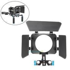 Matte Box Mattebox Sunshade for 15mm Rail Rod Support DSLR Digital Camera