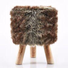 Sitzhocker Fell Polsterhocker  Holzhocker Tritthocker 40 cm braun C090