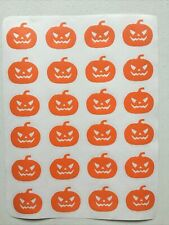 24 X Pumpkin Halloween Vinyl Decal Stickers Mug / Glass / Bottle Etc
