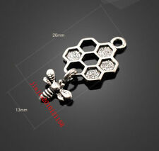 P654 8pc Retro Tibetan Silver bees Jewelry Accessories wholesale
