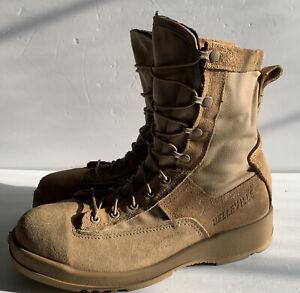 Belleville 330 DES ST Mens Sz 9.5 R Beige Leather Steel Toe Lace Up Combat Boot