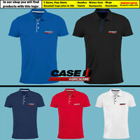 Case IH Agriculture Slim Polo T Shirt Embroidered Tractor Logo Tee Mens Gift