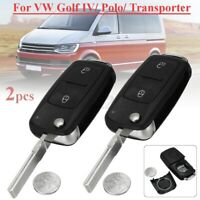 2X 2 Buttons Remote Key Fob Case For VW VOLKSWAGEN TRANSPORTER T5 AMAROK  Y