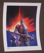 """Mass Effect Saren Lithograph Unsigned 16"""" x 12"""" Limited Rare 1 2 3 Official"""