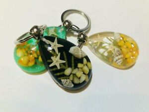 15pc  huge insect shell starfish grass drop big mix design heavy key-chains  y12