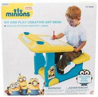 Despicable Me Minions Sit and Play Large Creative Art Colouring Desk Stool Table