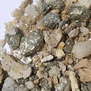 4oz Nugget Pay Dirt Gold, Rhodium, Platinum, Silver Ore Visible Shinny Metals