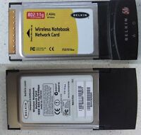 BELKIN Wireless Notebook Network Card 54G P81547-B PCMCIA F5D7010xx Laptop
