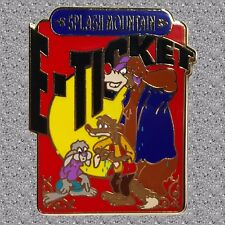 E-Ticket Splash Mountain Pin - Brer Rabbit, Brer Fox, Brer Bear - DISNEY LE 5000