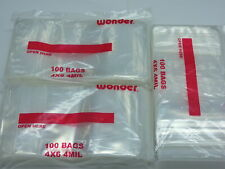 300 4x6 4 Mil Ziplock Plastic Bags Clear Poly Zipper Reclosable Jewelry Crafts