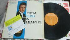 ELVIS PRESLEY FROM ELVIS IN MEMPHIS ITALY LP 60'S ORANGE LABEL +PROMO CARD RCA