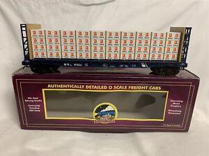 ✅MTH PREMIER MONTANA RAIL LINK BULKHEAD FLAT CAR W/ LUMBER WOOD LOAD 20-98661!
