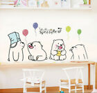 Removable Lovely Leisurely Bear Wall Sticker Art Mural Wall Decal Home Decor Diy