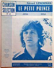 Partition alt partitur sheet music = Gérard Lenorman : Le petit prince