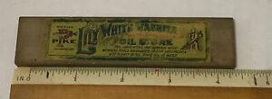 Vintage Pike Lily White Washita Oil Stone