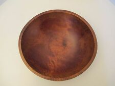 """Antique Wooden Dough Bowl Hand Turned 13"""""""