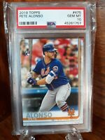 PETE ALONZO 2019 Topps Series 2 RC #475 PSA 10 Gem Mint Rookie Card💎