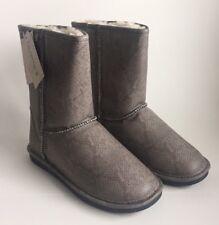 Bearpaw Emma Short Boots Snake Skin Womens 9