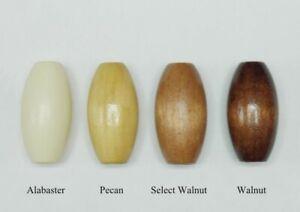 """1 1/2""""  WOOD BLIND CORD TASSEL Condenser - Barrel Design ~ Pick your Finish"""