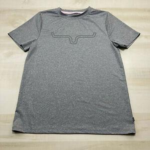 Kimes Ranch Shirt Womens Medium Gray Logo Short Sleeve Stretch Tee Activewear