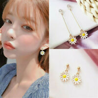 1 Pair Daisy Flower Earrings Drop Dangle Ear Studs Women Party Jewelry Gift AU
