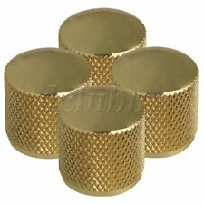 4 Gold Guitar Bass Volume Tone Control Knobs With Screw Type
