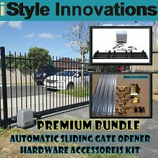 PREMIUM BUNDLE PACKAGE - AUTOMATIC SLIDING GATE OPENER HARDWARE ACCESSORIES KIT