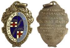 Medaglia 1929 Convegno Motociclistico 69^ Regione Fossalta Bologna,Argento#MD789