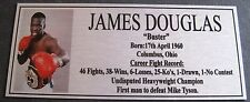 """JAMES Buster DOUGLAS new Boxing Champions Gold  Subimated Plaque """"FREE POSTAGE"""""""