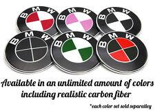BMW Hood Trunk Steering Wheel and Wheel Overlay Stickers  Custom Colored Emblems