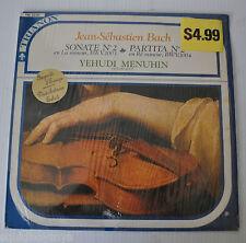 - YEHUDI MENUHIN Jean-Sebastien Bach Sonata No.2 LP Record Trianon -