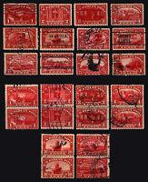 #Q1-Q12 1c-$1.00 1913 Parcel Post Mosty Used Lot 18 items