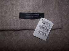 100% Cashmere Design by Italy tan scarf NWT