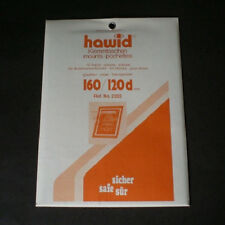 Hawid Stamp Mounts Size 160/120d CLEAR Background Pack of 10