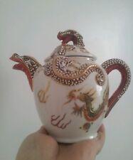 Antique/vintage oriental Mana china Japan dragon teapot / water coffee pot