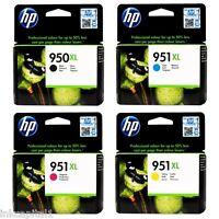 4 x HP OEM Ink Cartridges No 950XL B & 951XL,C,M&Y For Officejet Pro 276DW